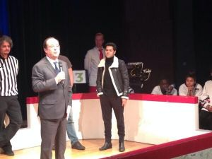Le président Hollande à Trappes avec Jamel Debbouze