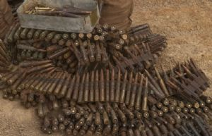 Sangaris : Destruction des munitions saisies