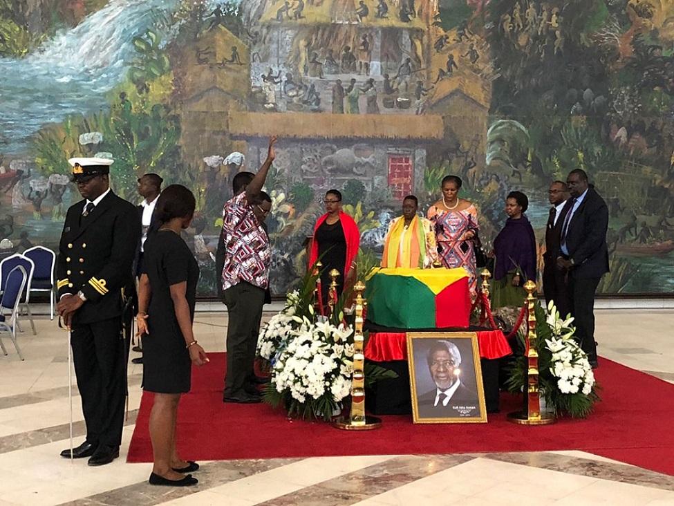 Obsèques nationales: le Ghana, l'Afrique et le monde font leurs adieux à Kofi Annan