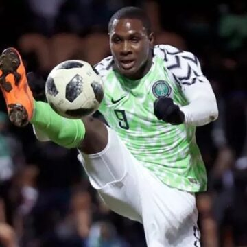 Odion Ighalo, meilleur buteur des éliminatoires de la CAN 2019 et de la phase finale, quitte les Super Eagles