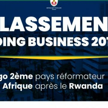 Rapport Doing Business 2020 : Le Togo gagne 40 places