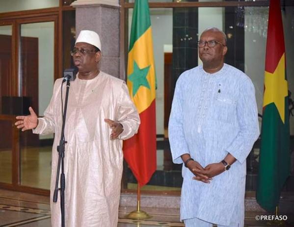 Macky Sall apporte son soutien au peuple Burkinabé