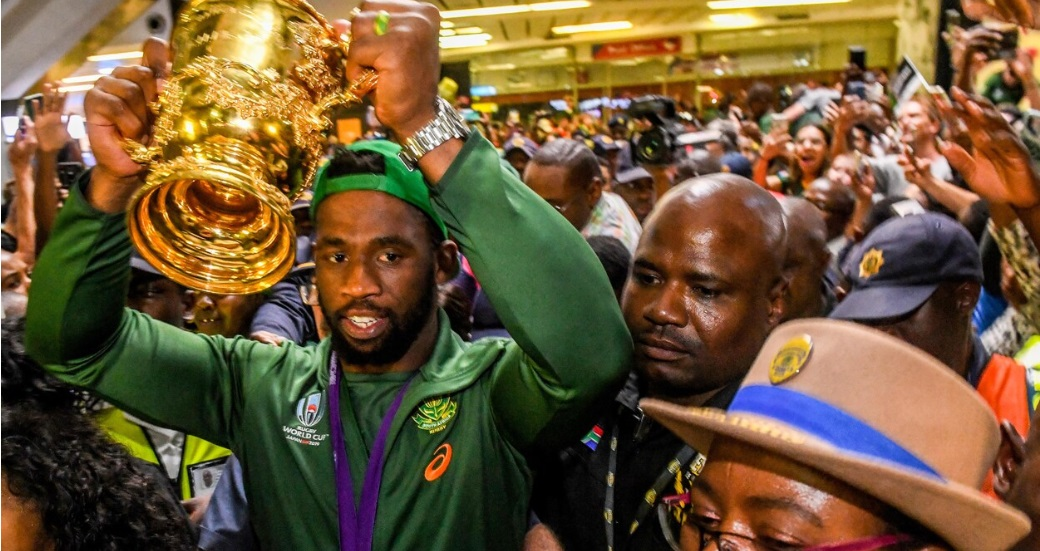 Rugby : retour triomphal pour les Springboks, triple champion du monde