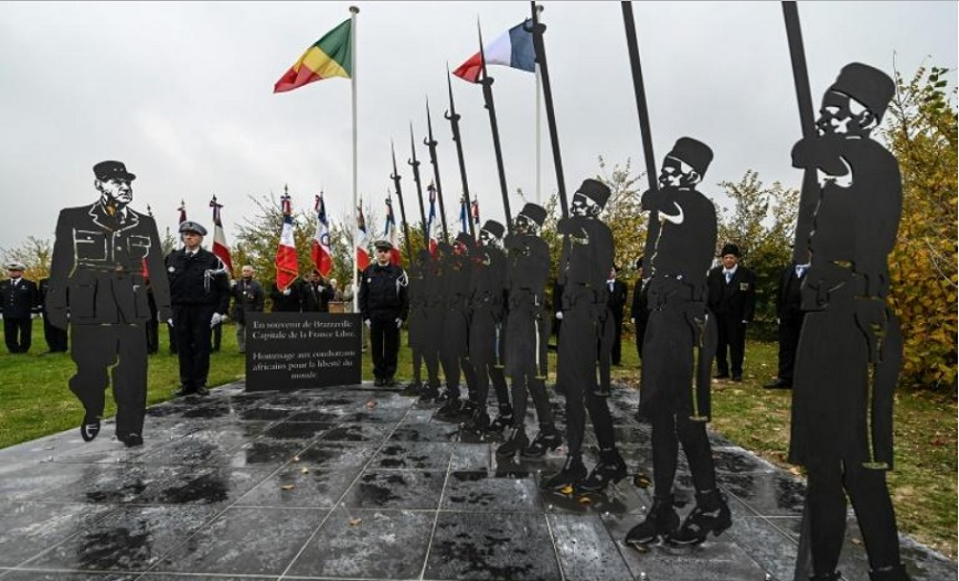 France : une stèle en hommage aux soldats africains érigée à Verquin
