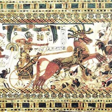 Le système militaire de l'Egypte ancienne en attraction en mai 2020 à Munich
