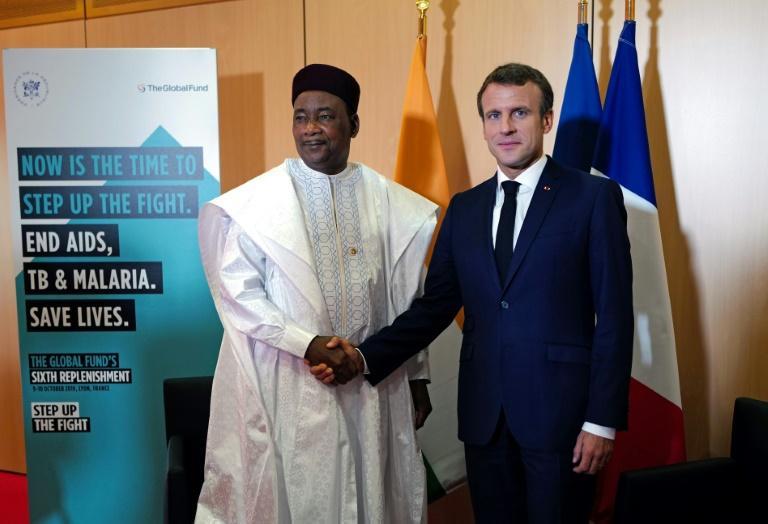 Le président français Emmanuel Macron  en visite à Niamey le 22 décembre