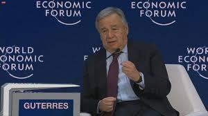Forum de Davos : Dans un monde incertain et instable, Guterres plaide pour une mondialisation équitable