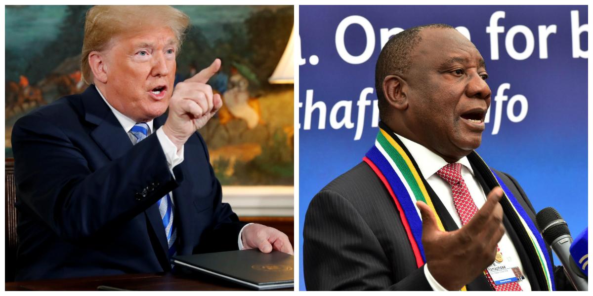 Donald Trump soutient Cyril Ramaphosa